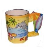 Tropical Beach Scene Drinking Cup Mug Souvenir... - $14.99