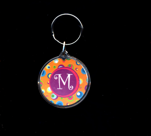 FREE WITH PURCHASE~M two sided Key Ring