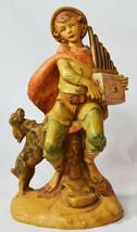Vintage Capodimonte Style Italian Plastic Hand Painted Statue Hand Organ... - $123.49