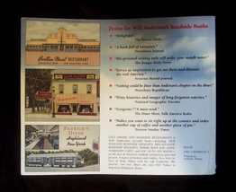 SIGNED Will Anderson Lost Diners & Roadside Restaurants Book image 4