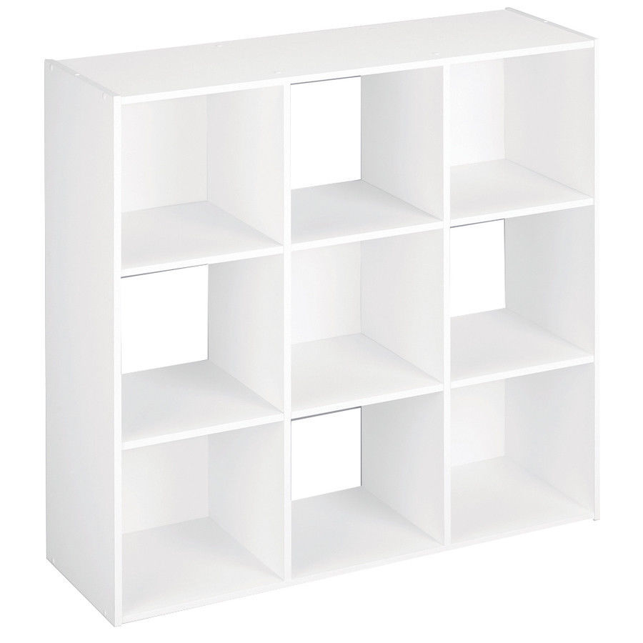 9 Cube Organizer Shelf White Home Storage Cabinet Office Decor Bookcase Shelves