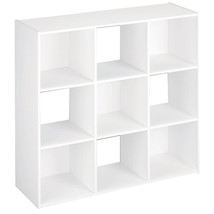9 Cube Organizer Shelf White Home Storage Cabinet Office Decor Bookcase ... - $54.00
