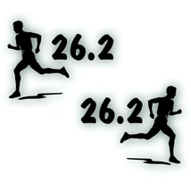 Marathon 26.2 MAN BOY decal PAIR bumper sticker for Olympic mile runner ... - $8.83