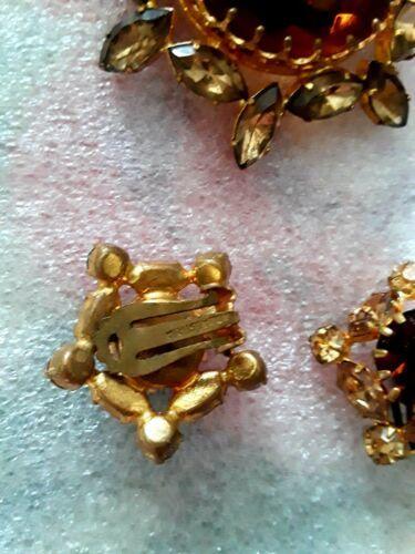 Truly Vintage Rhinestone Pin & Earring Set Austria