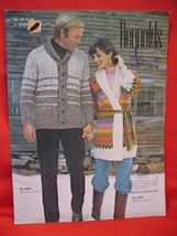 Reynolds Lopi Wool Sweater Wrap Jacket Knitting Pattern etc image 1