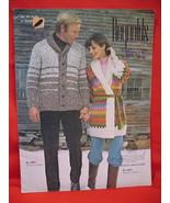Reynolds Lopi Wool Sweater Wrap Jacket Knitting Pattern etc - $6.99
