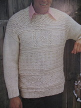 Reynolds Lopi Wool Sweater Wrap Jacket Knitting Pattern etc image 2