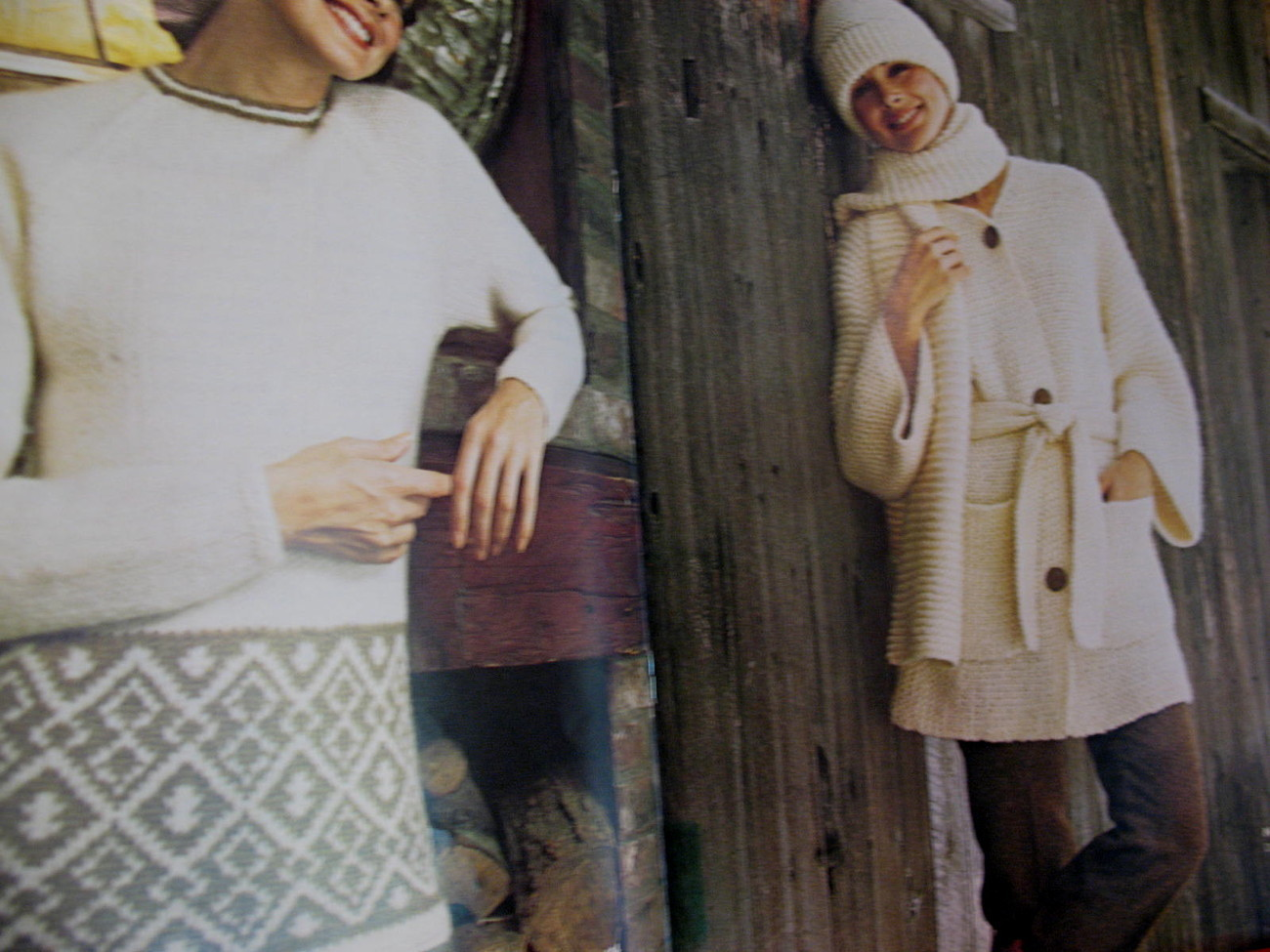 Reynolds Lopi Wool Sweater Wrap Jacket Knitting Pattern etc image 3