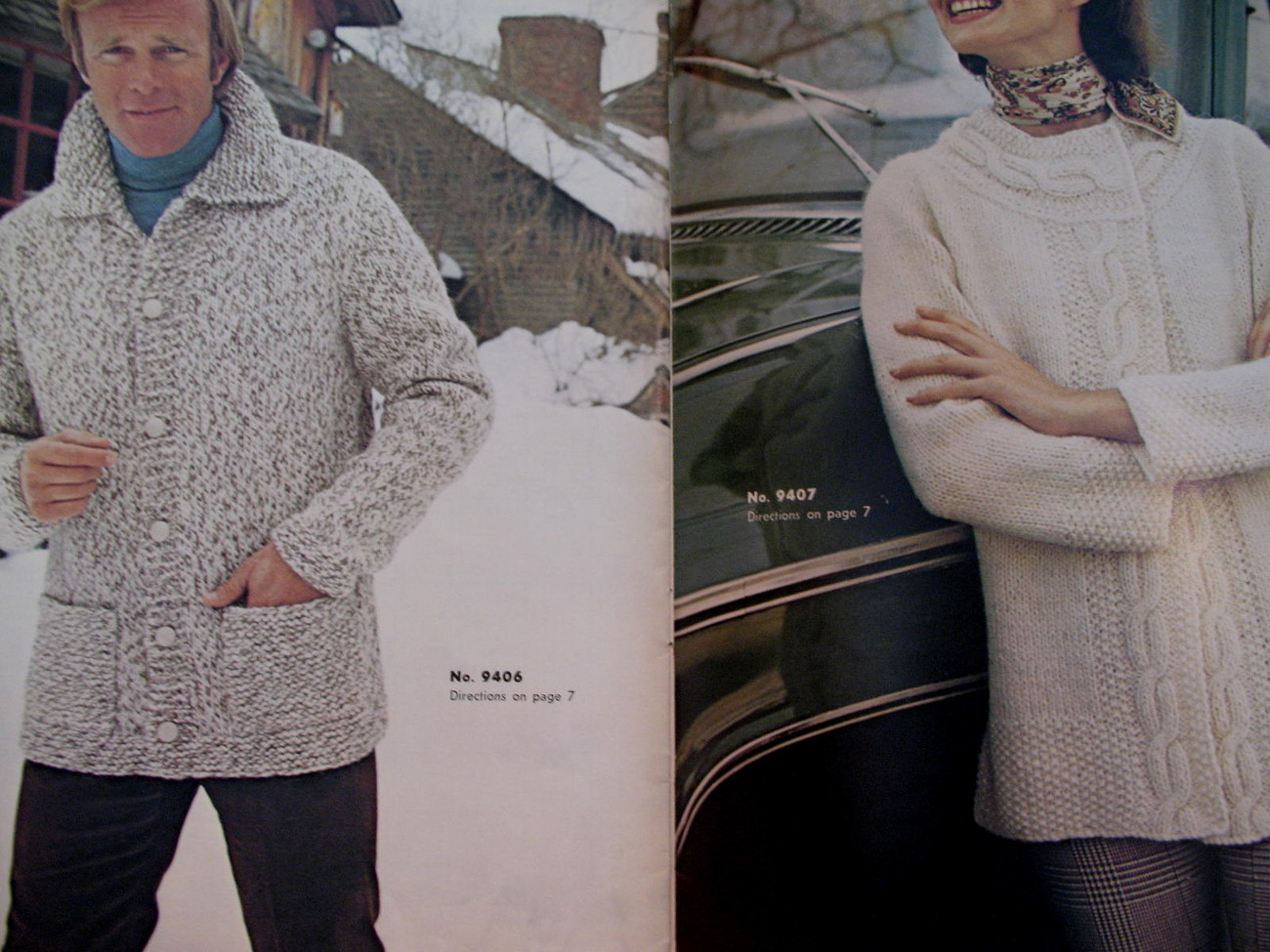 Reynolds Lopi Wool Sweater Wrap Jacket Knitting Pattern etc image 4