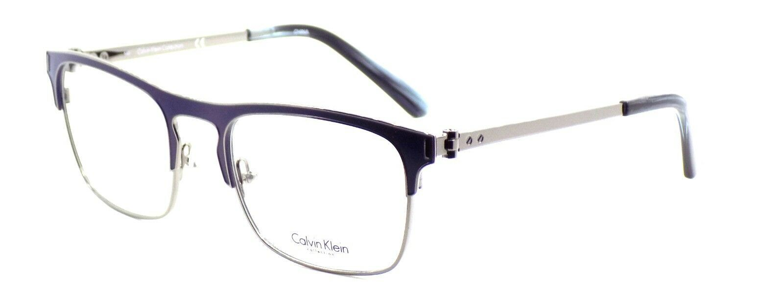 Calvin Klein CK8016 405 Men's Eyeglasses Frames Navy Blue 52-20-140 + CASE