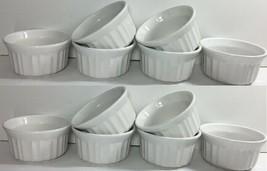 Corelle Corningware French White Set of 12 Ramekins 4-Ounce Stonesware NEW - $44.95