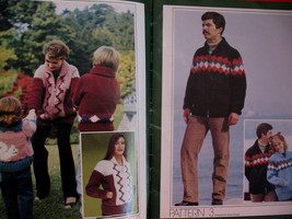 Chinook Family Knitting Patterns Sweaters Vests Pullovers  image 2