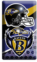BALTIMORE RAVENS FOOTBALL TEAM LIGHT DIMMER CABLE WALL PLATE MAN CAVE RO... - $9.89