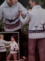 Chinook Family Knitting Patterns Sweaters Vests Pullovers  image 4