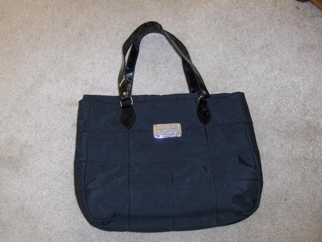 Yankee Candle Black Quilted Nylon Purse Tote Bag Shopper Purse  Bonanza