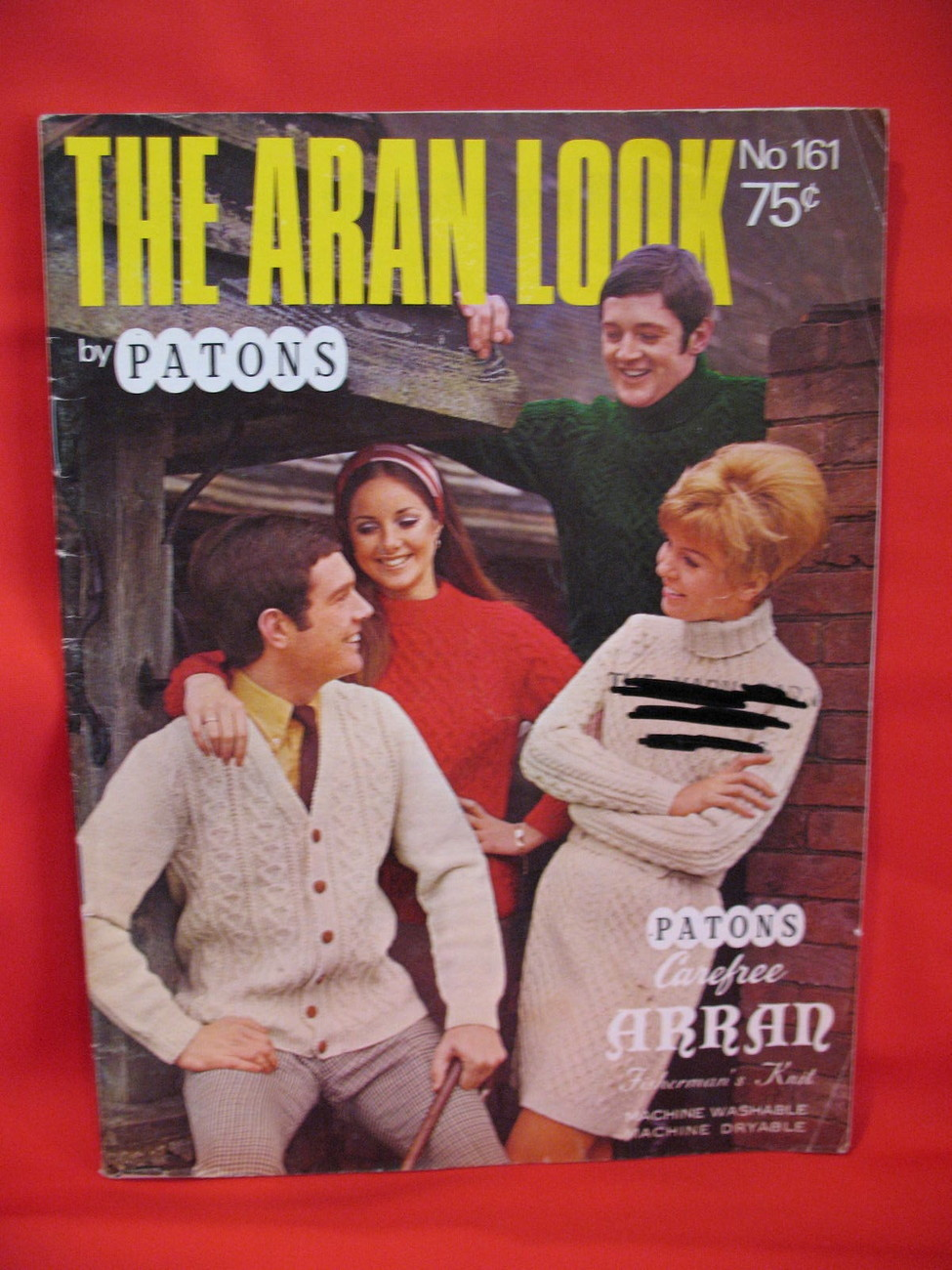 Patons Aran Style Fishermans Knit Knitting Patterns Sweaters Bonanza