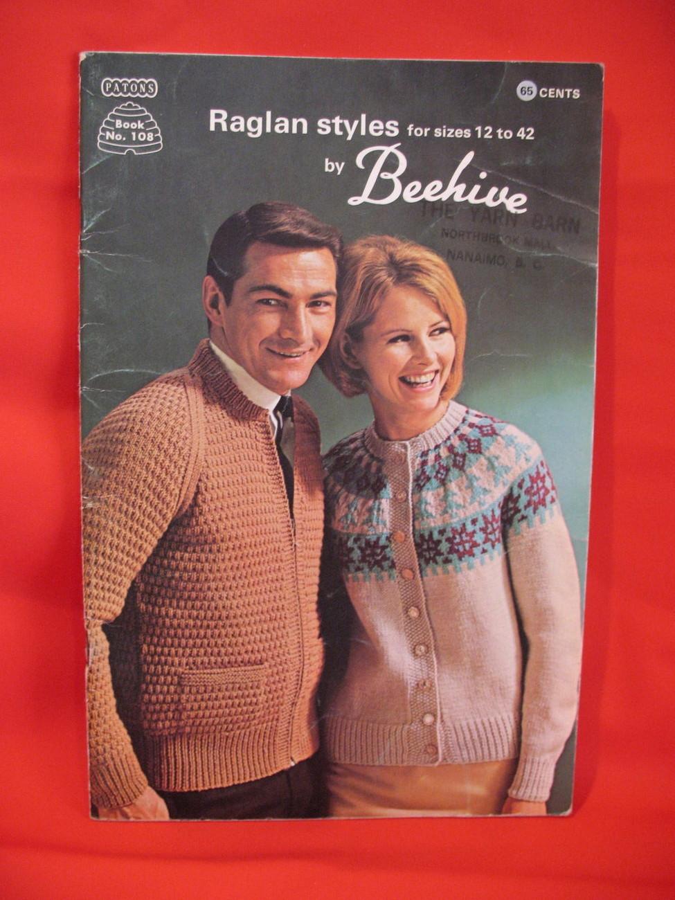 Vintage Patons Raglan Knitting Patterns Sweaters Dresses