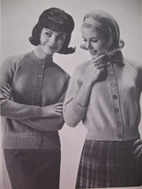 Vintage Patons Raglan Knitting Patterns Sweaters Dresses image 4