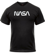 Black Authentic Retro NASA Worm Logo T-Shirt Official Space Logo Tee - $13.99+