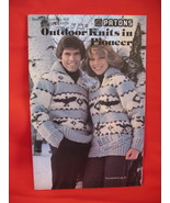 Patons Cowichan Sweaters Jackets Hat Knitting Patterns  - $7.99