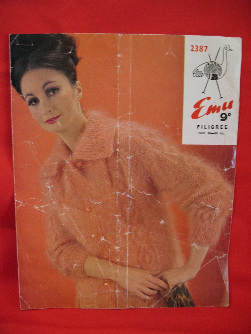 Vintage Emu Filigree Knitting Pattern Cardigan Sweater Bonanza