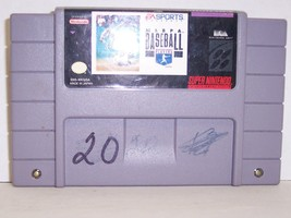 Super Nintendo MLBPA Baseball Video Game Cartridge (Nintendo SNES, 1994)... - $9.89