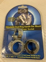 Eklipes Adjustable Dual Ring Handle Bar Mount for Power Socket Viper EK1-161 image 1