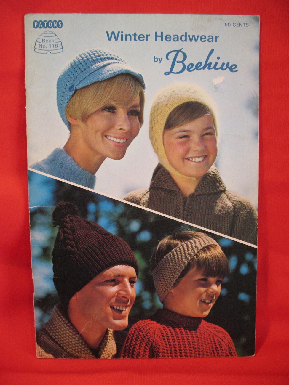Beehive Winter Headwear Knitting Patterns Family Hats Caps