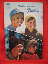 Beehive Winter Headwear Knitting Patterns Family Hats Caps image 1
