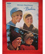 Beehive Winter Headwear Knitting Patterns Family Hats Caps - $7.99