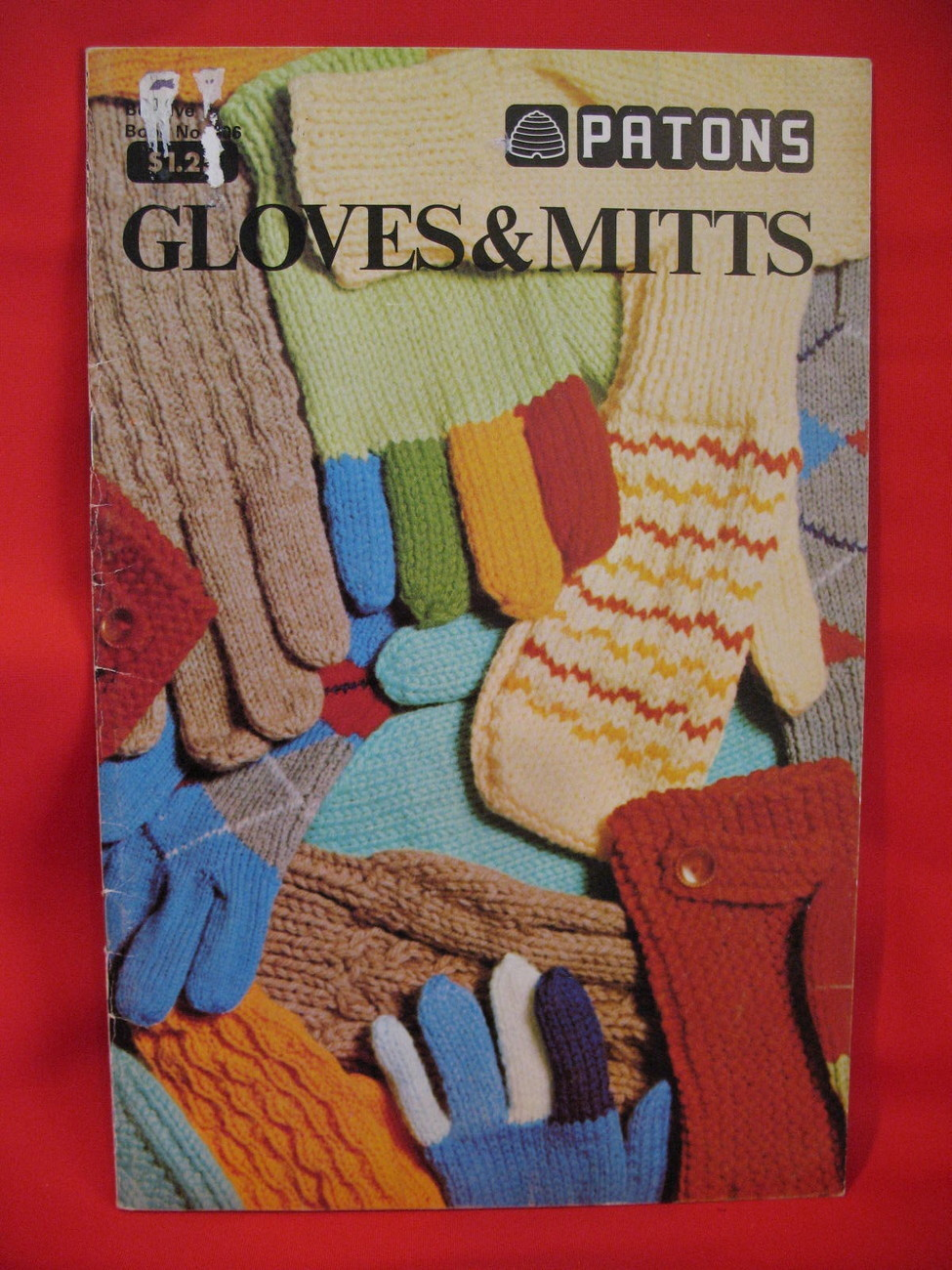 Patons Garter Gloves Dragon Mitts Knitting Patterns Family