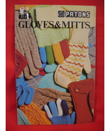 Patons Garter Gloves Dragon Mitts Knitting Patterns Family - $7.99
