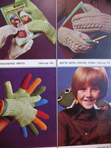Patons Garter Gloves Dragon Mitts Knitting Patterns Family image 2