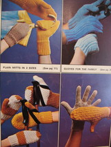Patons Garter Gloves Dragon Mitts Knitting Patterns Family image 3