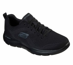 Skechers Wide Width Men Memory Foam Black Shoes Mesh Sport Comfort Casua... - $39.99