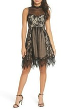 Nwt Foxiedox Gloria Fit & Flare Dress Special Occasion $168 Black Size 2 - $55.44