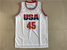 Donald Trump #45 White USA Basketball Jersey - $28.99