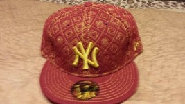 New Era New York Yankees MLB 59FIFTY Cap Fitted Hat Size 7 7/8 - $24.99