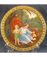 Honor Thy Father and Thy Mother Collector Plate Ten Commandments Mary Mayo - $44.95