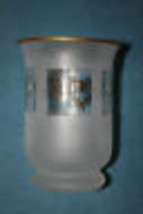 LENOX - GOLD CLUB MILLENIUM GLASS CANDLE HOLDER - DOVES - 24 KARAT GOLD ... - $14.69