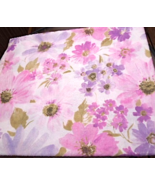 "52"" X 60"" Floral Tablecloth- Large Watercolor Look - Pink and Purple #5041 - $14.99"