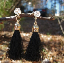 Haunted Voodoo Belle Black Wanga Earrings Protect, Revenge, Dispel  - $15.00