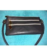 Stella & Max black faux leather crossbody wallet wristlet Mint - $17.00