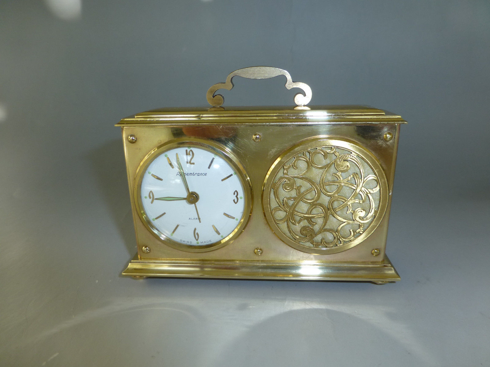 Exc Vintage Swiss Musical Alarm Clock With and 50 similar items