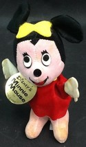 Vintage Stuffed Minnie Mouse Wood By Product With Tag - $19.99
