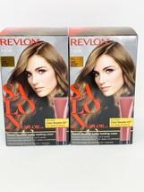 Lot of 2 Revlon Salon Color 6G Light Golden Brown Color Booster Kit NEW - $18.46