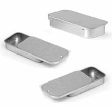 Metal Slide Top Tin Containers (small) for Crafts Geocache Storage Survi... - $21.48