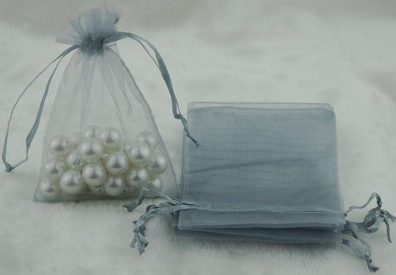 AA8: 12.5cm x 18cm Organza Bags Wedding Favor Gift Candy Drawstring Bag100 pcs