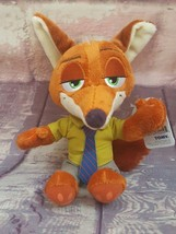 "New Tomy Disney Zootopia  Nick Wild 7.5"" Plush~ Red Fox Beanbag Stuffed ... - $8.54"