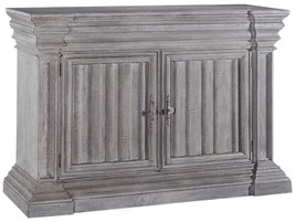 Server Sideboard CATHEDRAL Linen Fold Gothic Heavy Cornice - $2,639.00